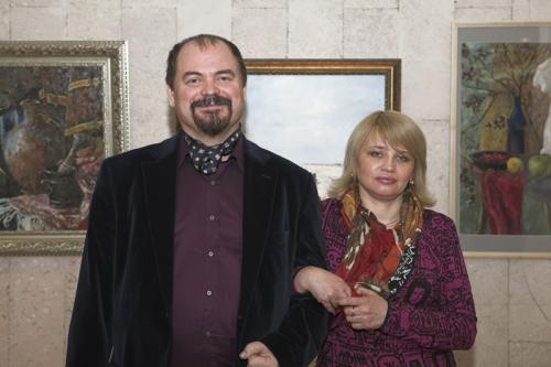 Козорезенко П.П. и Степанова Т.Ю. на выставке в Академии МВД.