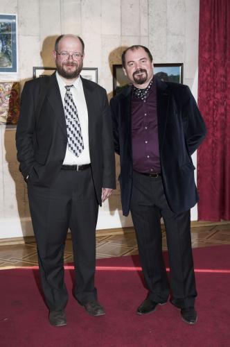 Романков В.О. и Козорезенко П.П. на открытии выставки.
