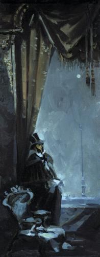 Эскиз к картине «Последнее письмо. Перед дуэлью. А.С.Пушкин»