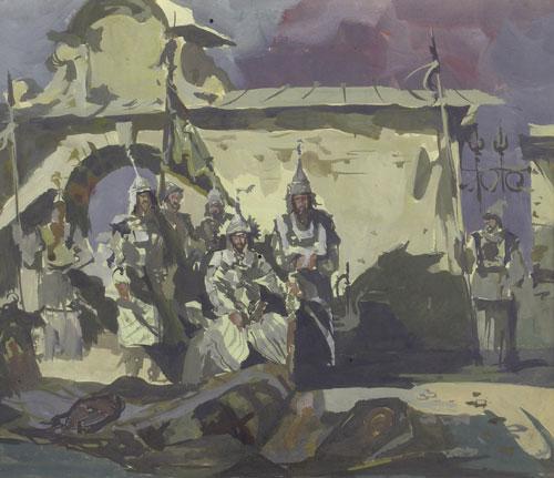 Эскиз к картине «Кучум» из серии «Противостояние».